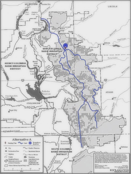USBR Water Importation Delivery Option Map Showing