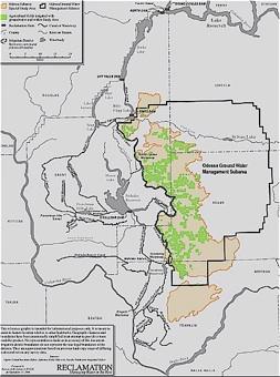 Map Showing The Odessa Subarea To Enlarge Click Here Source Initial Alternative Development Evaluation Odessa Subarea Special Study U S Bureau Of